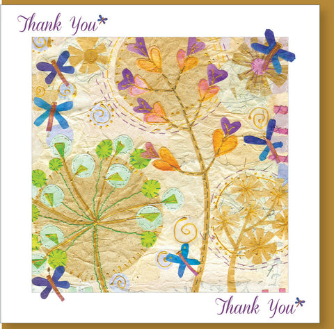 Thank You Religious Greeting Card - Flowers-Greeting Card-Serenity Gifts