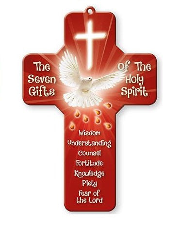 Confirmation Wood Cross - Seven Gifts of the Holy Spirit-Confirmation Gift-Serenity Gifts