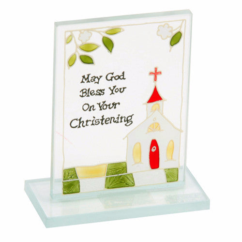 Christening Glass Plaque-Plaque-Serenity Gifts