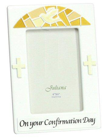 Confirmation Photo Frame - White Ceramic-Confirmation Gift-Serenity Gifts