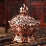 Lotus Incense Burner - Copper-Incense-Serenity Gifts