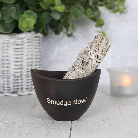 Black Ceramic Smudge Bowl-Smudge Bowl-Serenity Gifts