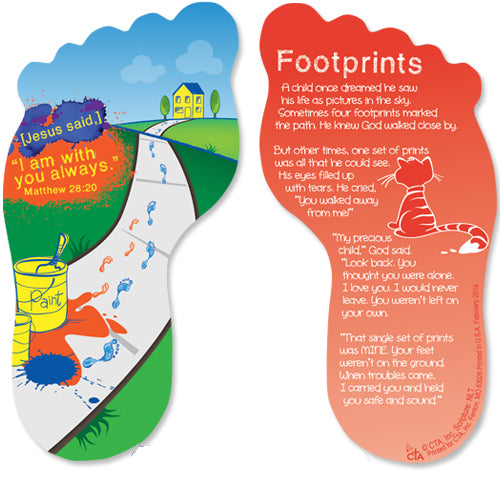 Bookmark - Footprints Verse for Children-Bookmark-Serenity Gifts