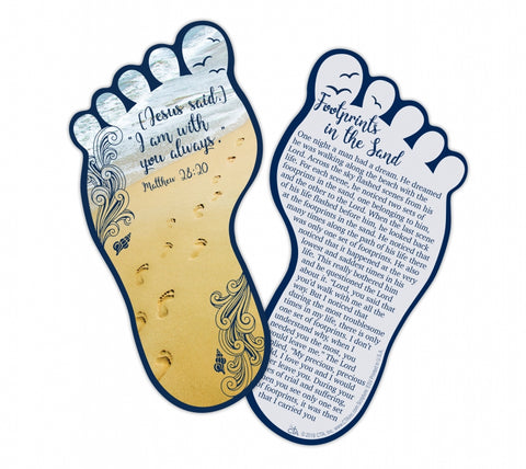 Bookmark - Large Footprints Shape-Bookmark-Serenity Gifts