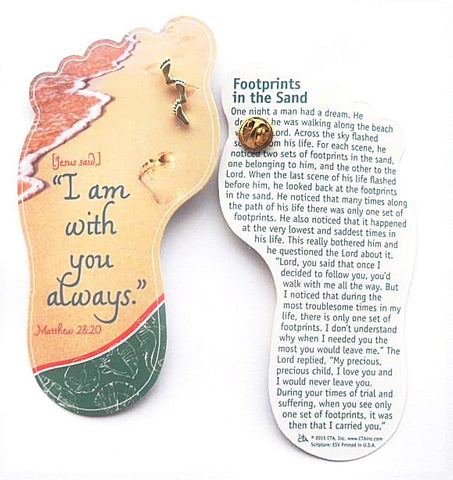 Bookmark and Lapel Pin - Footprints Verse-Bookmark-Serenity Gifts