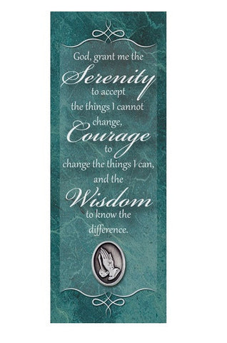Serenity Verse - Praying Hands Pin on Bookmark-Bookmark-Serenity Gifts