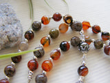 Handmade Rosary - Dream Agate Sacred Heart of Jesus-Rosary Beads-Serenity Gifts