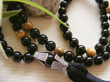 Handmade Mala Beads - Black Onyx and Picture Jasper-Mala Beads-Serenity Gifts