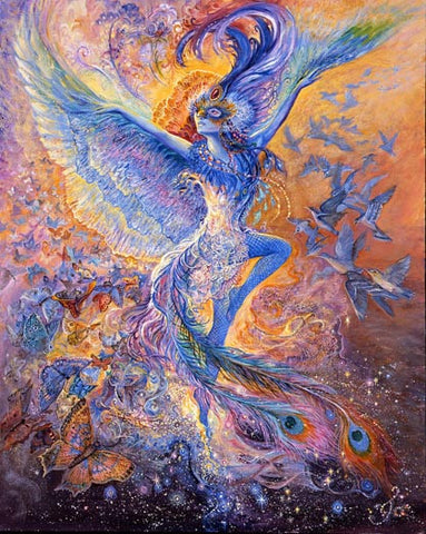 Birthday Greeting Card - Josephine Wall - Bluebird Happiness-Greeting Card-Serenity Gifts
