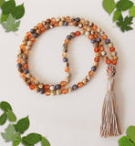 Handmade Mala Beads - Natural Carnelian and Picture Jasper-Mala Beads-Serenity Gifts