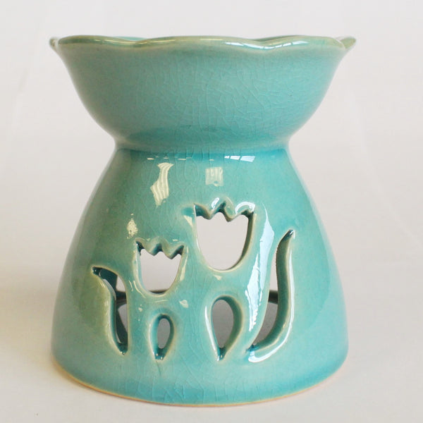 Ceramic Oil Burner - Tulip Design-Oil Burner-Serenity Gifts