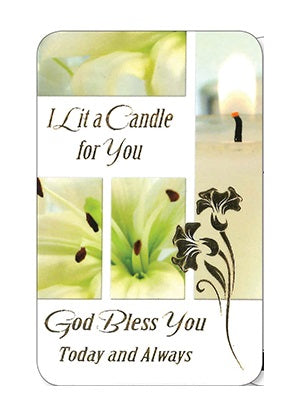 Prayer Card - I Lit A Candle For You-Prayer Card-Serenity Gifts
