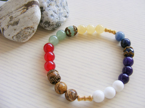 Gemstone Chakra Handmade Stretch Bracelet-Jewellery-Serenity Gifts