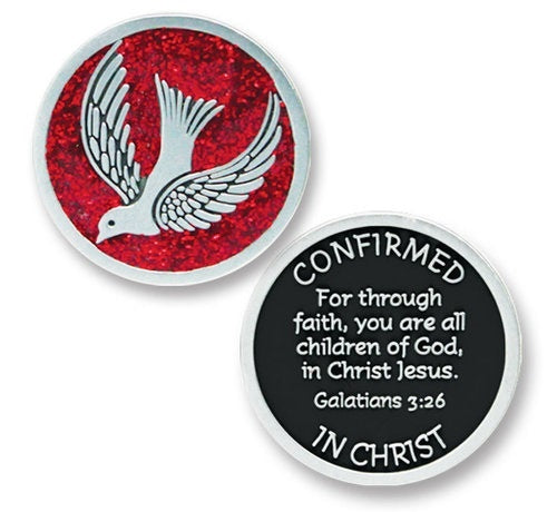 Confirmation Pocket Token - Red-Confirmation Gift-Serenity Gifts