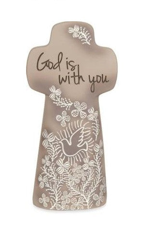 Double Sided Resin Cross - God is With You-Cross-Serenity Gifts