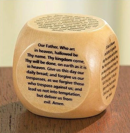 Wooden Prayer Cube - 6 Prayers - Large Version-Prayer Cube-Serenity Gifts