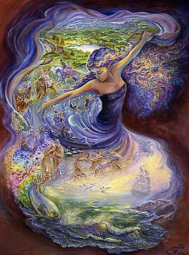 Birthday Greeting Card - Josephine Wall - Dance of Dreams-Greeting Card-Serenity Gifts