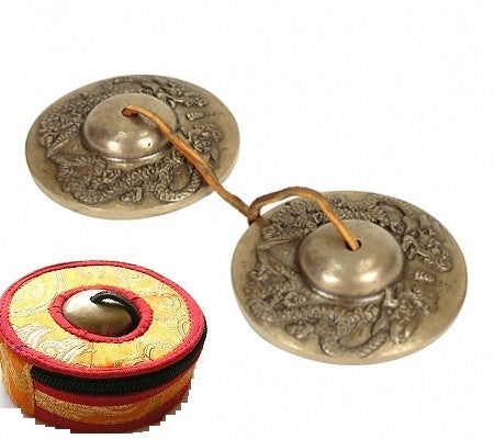 Dragon Tingsha Cymbals with Case - Longer Sound - Serenity Gifts  - 1