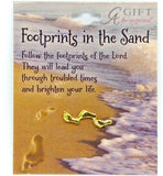 Gold Plated Lapel Pin - Footprints-Bookmark-Serenity Gifts