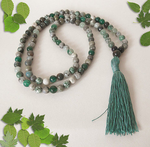 Handmade Mala Beads - Green Bead Mix-Mala Beads-Serenity Gifts
