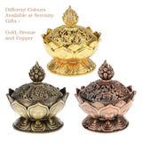 Lotus Incense Burner - Gold-Incense-Serenity Gifts