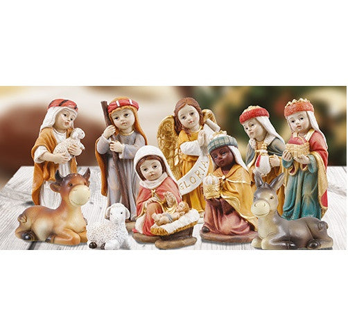 "Childrens Nativity Figures - Resin 4""-Nativity-Serenity Gifts"