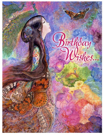Birthday Greeting Card - Josephine Wall - Painted Lady-Greeting Card-Serenity Gifts