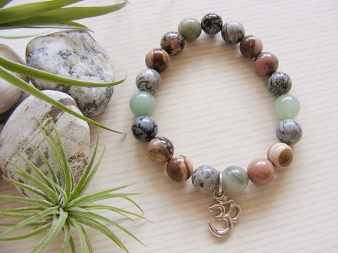 Gemstone Stretch Bracelet Mixed Stones - Om-Jewellery-Serenity Gifts