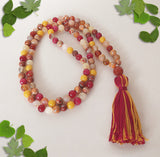 Handmade Mala Beads - Carnelian, Ambronite and Jade-Mala Beads-Serenity Gifts