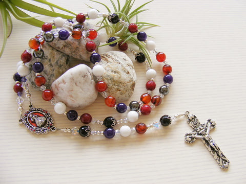 Handmade Rosary - Carnelian Agate Divine Mercy-Rosary Beads-Serenity Gifts