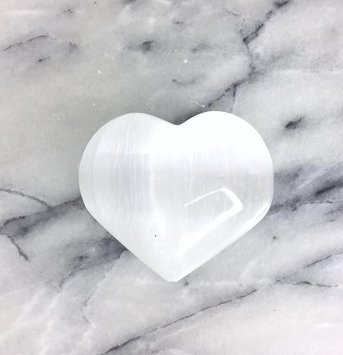Selenite Heart Gemstone - Meditation Aid - Serenity Gifts  - 1
