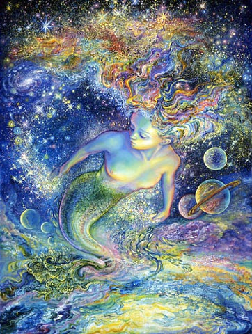 Birthday Greeting Card - Josephine Wall - Space Mermaid-Greeting Card-Serenity Gifts