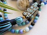 Handmade Mala Beads - Bluegrass Jasper Amazonite-Mala Beads-Serenity Gifts
