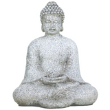 Little Meditating Buddha Statue - Stone Grey-Figurine-Serenity Gifts