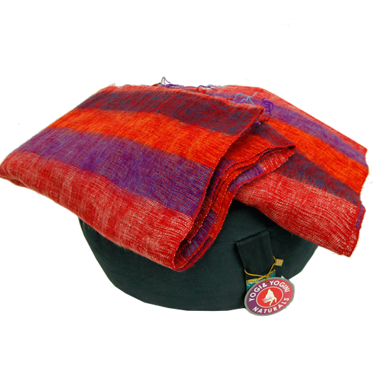 Meditation Shawl Yoga Wrap - Purple Orange Red Stripe-Meditation-Serenity Gifts
