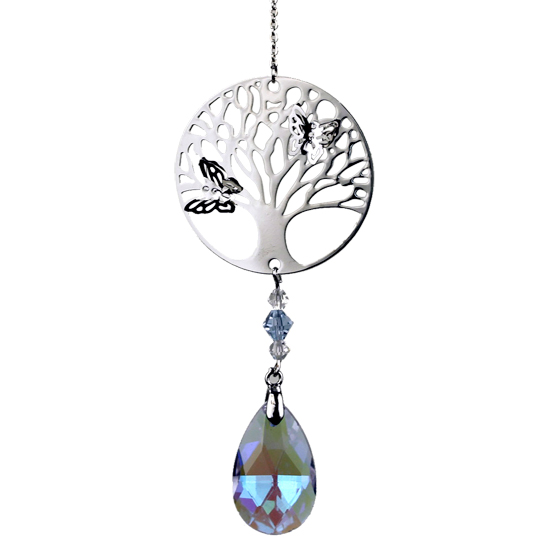 Feng-Shui Tree Of Life Hanging Crystal - Rainbow Purple-Chakra Gifts-Serenity Gifts