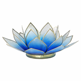 Lotus Flower Tea Light Holder - Blue White-Tea Light Holder-Serenity Gifts