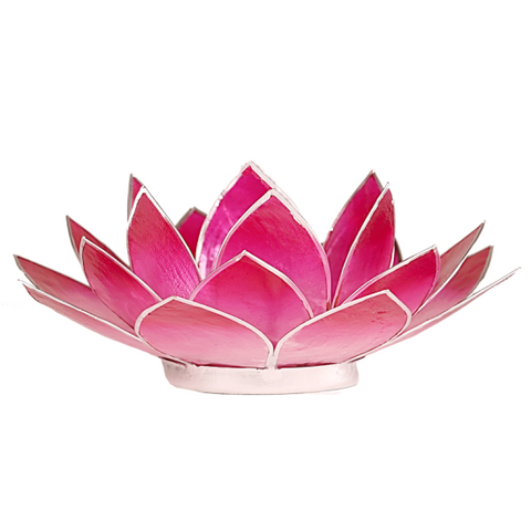 Lotus Flower Tea Light Holder - Hot Pink-Tea Light Holder-Serenity Gifts