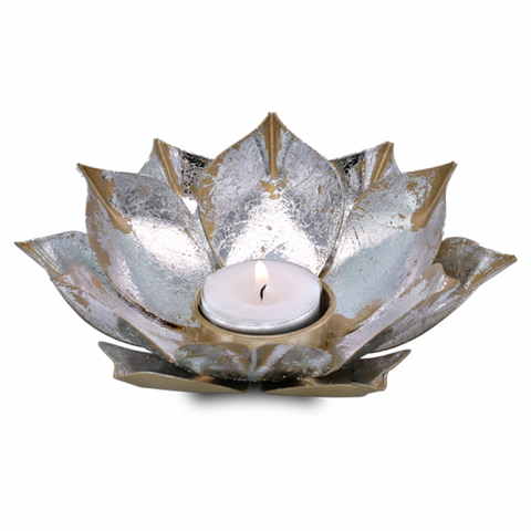 Tea Light Candle Holder - Lotus Flower-Tea Light Holder-Serenity Gifts
