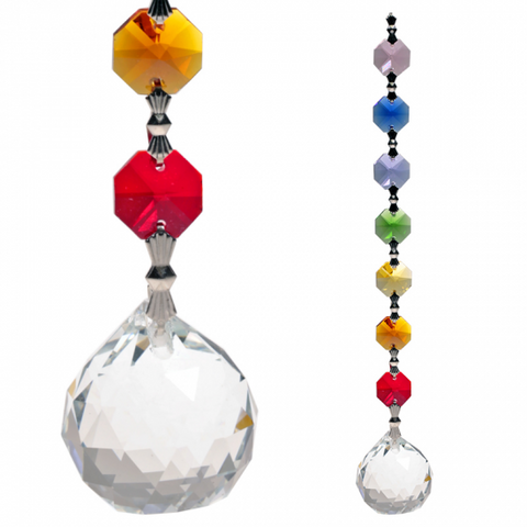 Feng-Shui Chakra Hanging Crystal - Oneness-Chakra Gifts-Serenity Gifts