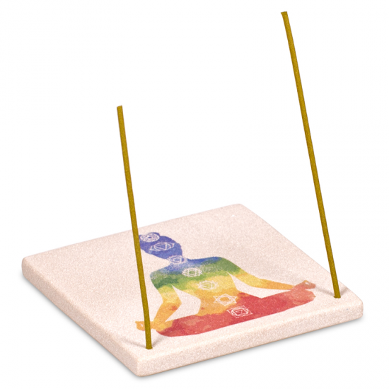 Sandstone Chakra Incense Holder / Burner - Square-Incense-Serenity Gifts