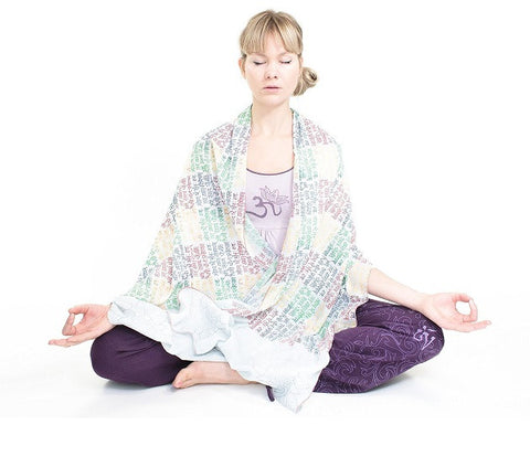 Meditation Scarf Yoga Wrap - With Gayatri Mantra-Meditation-Serenity Gifts