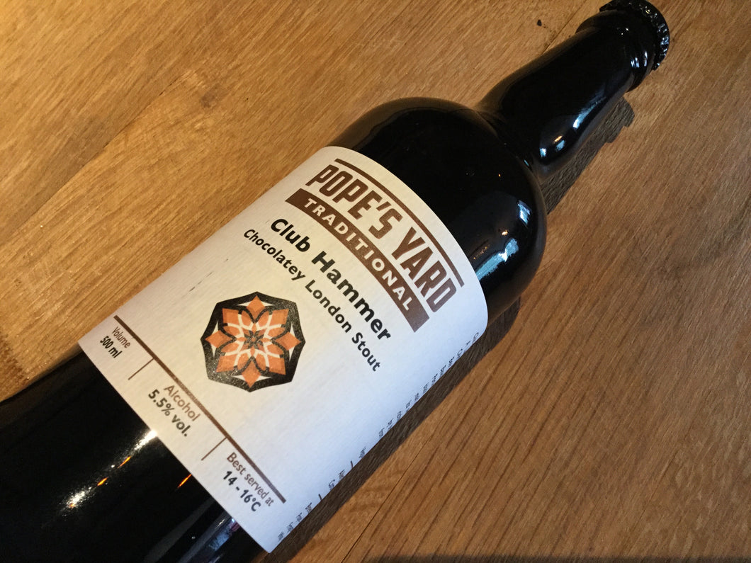 Pope's Yard Club Hammer Stout 500ml Bottle