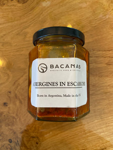 Bacanas Aubergines in Escabeche 280ml Jar