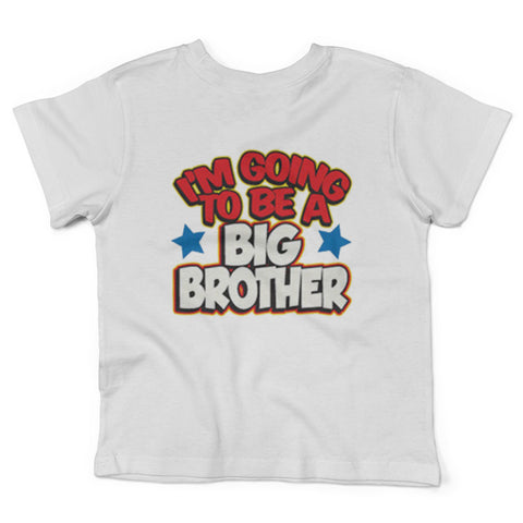 Lil Shirts Little Boys I Going To Be A Big Brother Toddler Graphic Tee