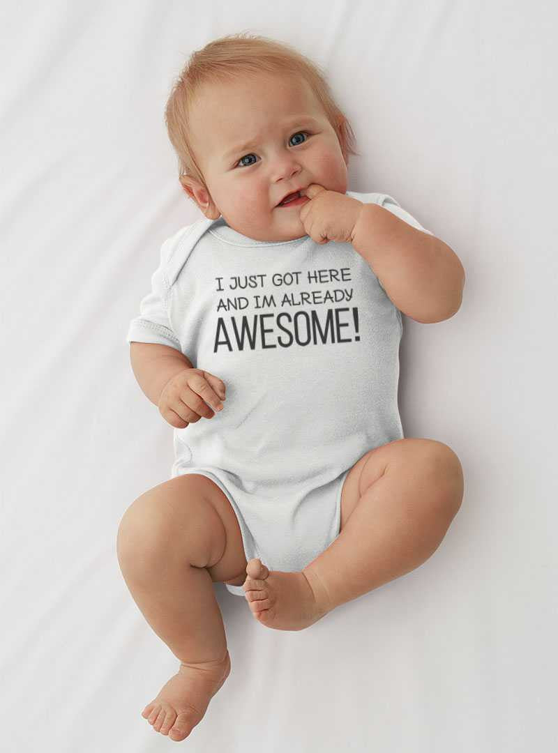 Lil Shirts All Ready Awesome Baby Bodysuit