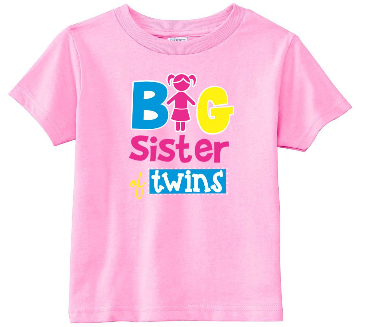 Big Sister Of Twins Toddler Girls Shirt