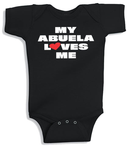 Lil Shirts My Abuela Loves Me Baby Bodysuit