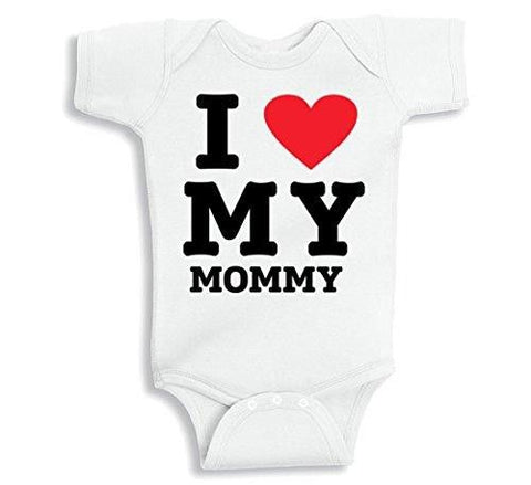 Lil Shirts Unisex Baby I Love My Mommy
