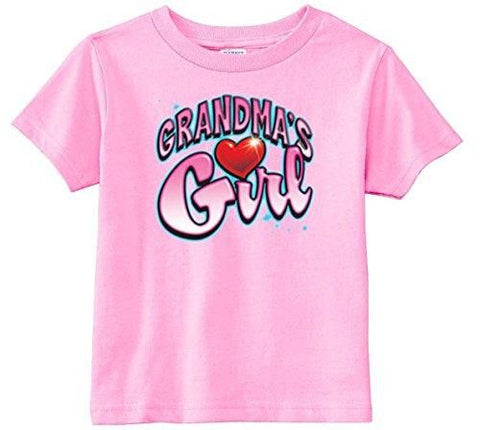 Lil Shirts Little Girls Grandma's Girl Toddler Graphic Tee